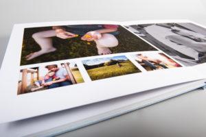 Fotoalbum mit flach anliegenden Seiten